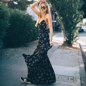 NWT Show Me Your Mumu Nicole Maxi Dress Cherry